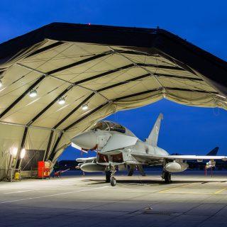 Military jet hangar