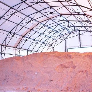 Rubb salt storage barn