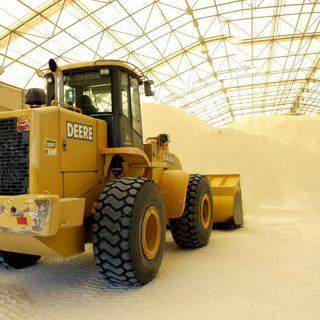 Mineral storage warehouse