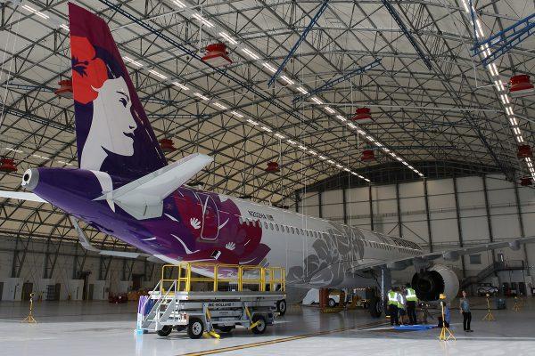 Hawaiian airlines MRO hangar